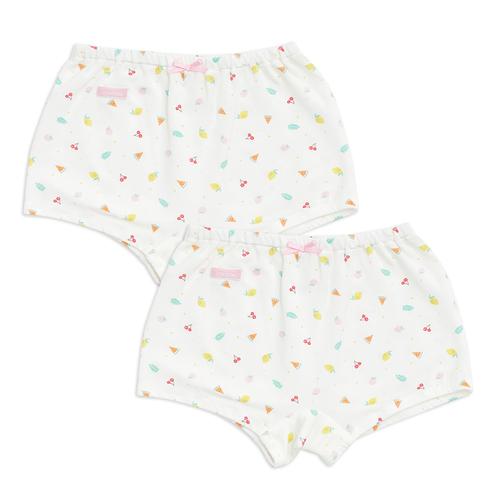 水果冰沙女平口褲-2入(冰紗)