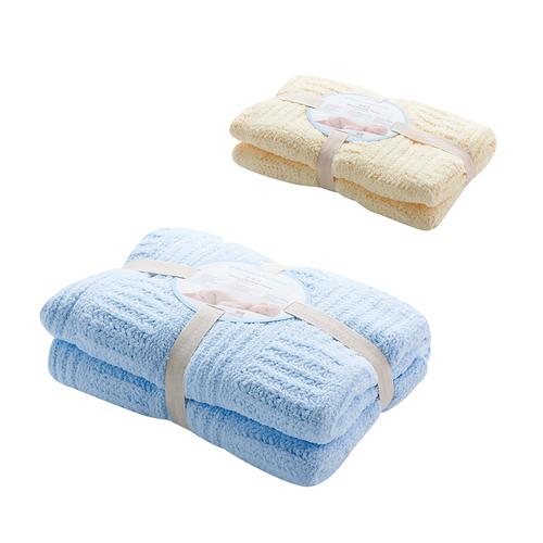 立體格紋柔舒毯組合