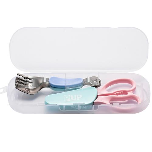 不鏽鋼餐夾食物剪組