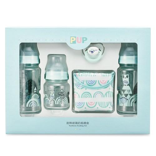 【寬口徑】耐熱硼矽玻璃奶瓶禮盒-貓頭鷹
