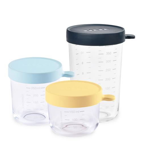 玻璃副食品儲存罐-3入組(150+250+400ml)