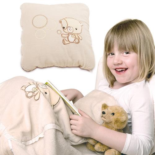小熊枕頭毯(枕頭+毯子兩用)