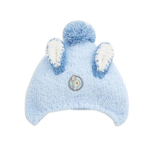 迷彩兔毛線帽