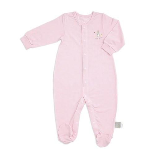 粉色愛心兔帶腳套兔裝(護膚天絲洞洞提花布)