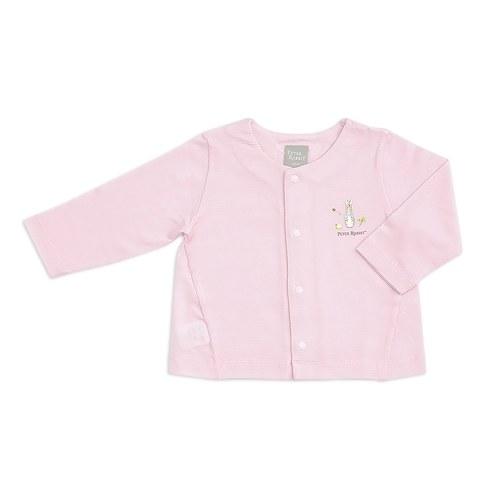 粉色愛心兔小外套(護膚天絲洞洞提花布)