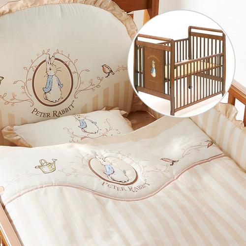 優雅比得兔六件床組+比得兔大床