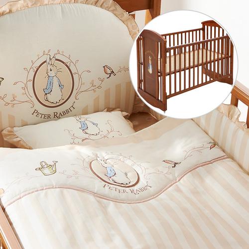 優雅比得兔六件床組+比得兔中床