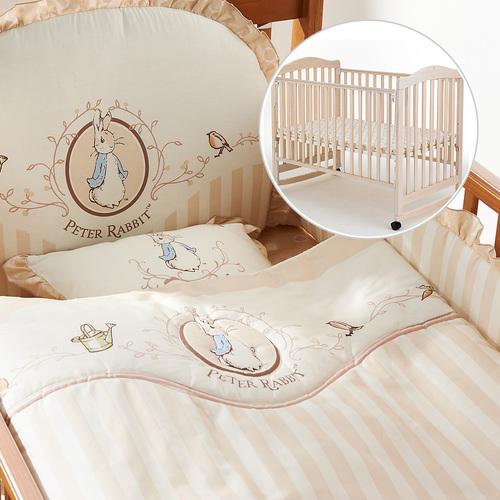 優雅比得兔六件床組+白色大床