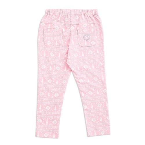 粉紅聖誕印花九分合身褲