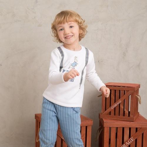 迷彩兔條紋長褲