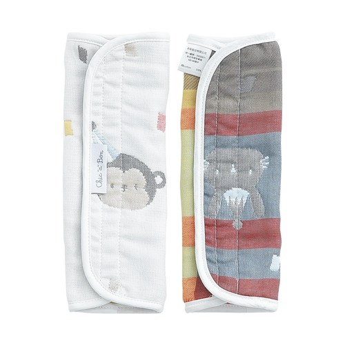 動物派對六層紗揹巾口水巾組