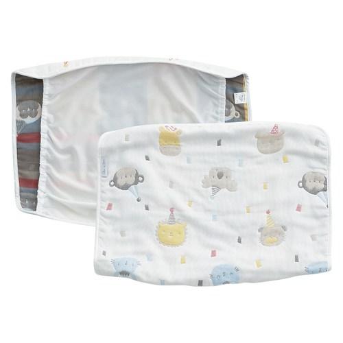 動物派對六層紗小枕巾