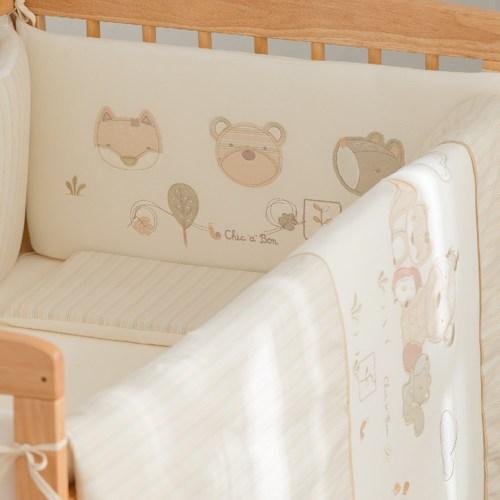 有機棉五件式寢具組(中床)