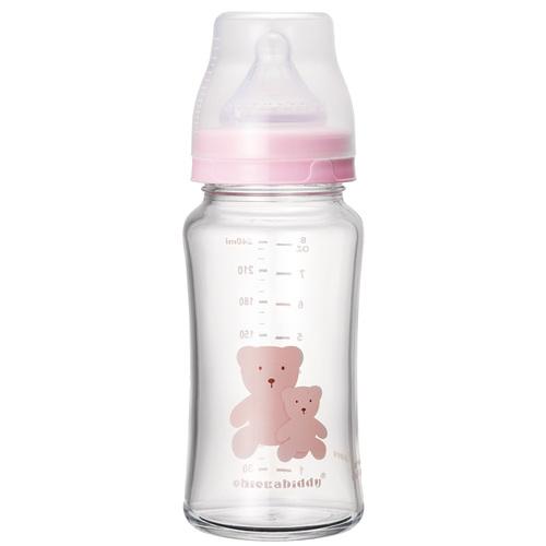 【寬口徑】耐熱硼矽玻璃奶瓶240ml