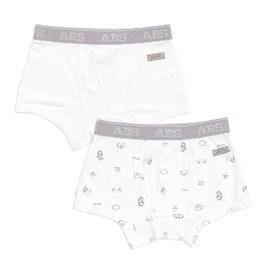 小斑馬男平口褲-2入(冰紗)