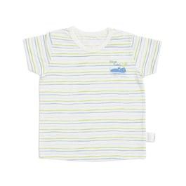 條紋功能布側開衫(膠原蛋白涼爽布)