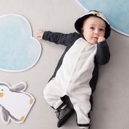 小企鵝長袖兔裝