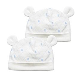 掌心系列造型熊耳帽-2入(早產兒專用)