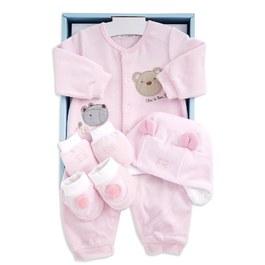 熊繡花兔裝禮盒