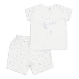 渡假熊短袖套裝(水晶紗)