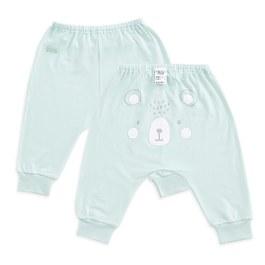 森林物語造型嬰兒褲(天絲洞感提花布)