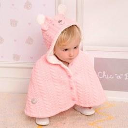粉色小熊造型披風