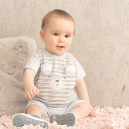 甜心寶貝短袖兔裝
