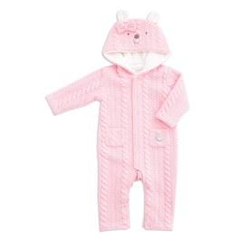 粉色小熊造型連帽兔裝