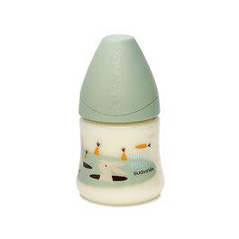 寬口拇指型奶瓶150ml-兔子系列
