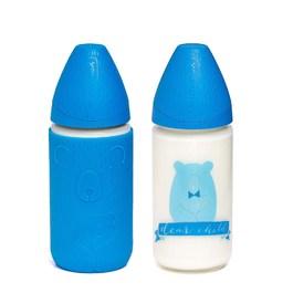 玻璃奶瓶配矽膠套