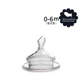 拇指型寬口奶嘴2入-慢流量(0-6M)