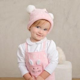 粉紅聖誕女童帽