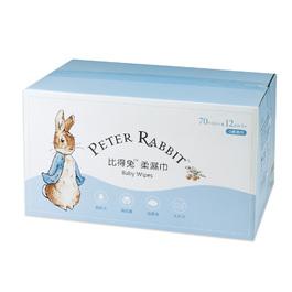 比得兔柔濕巾-70抽12包