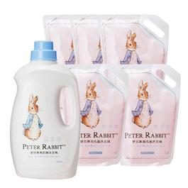 【特惠組】比得兔嬰兒專用抗菌洗衣精 (瓶裝x1+補充包x5)
