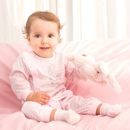 粉色愛心兔長袍妙妙裝