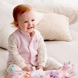 粉色愛心兔夾層背心-雙面穿
