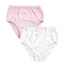粉色愛心兔女三角褲-2入(鋅纖維)
