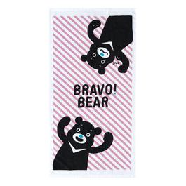 熊讚紗布大浴巾