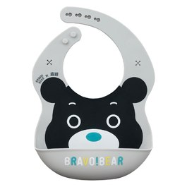 熊讚立體矽膠圍兜