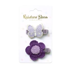 蝴蝶花朵髮夾組