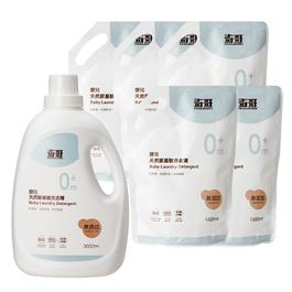 《防疫保衛戰》嬰兒天然胺基酸洗衣精 (瓶裝x1+補充包x5)
