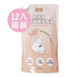 《防疫保衛戰》兒茶素奶瓶蔬果洗潔液-補充包900mlx12