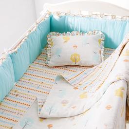 快樂森林六層紗六件式寢具組