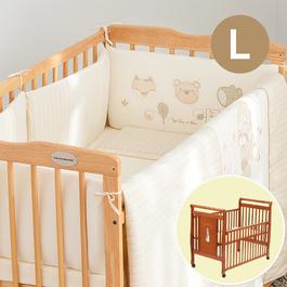 有機棉五件式寢具組+比得兔大床
