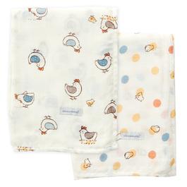 快樂小雞竹纖維紗布大包巾2入