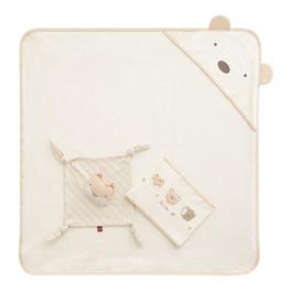 有機棉肚圍包巾禮盒(包巾+肚圍+安撫巾)