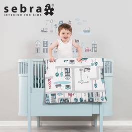 粉彩世界可調嬰兒床-藍色