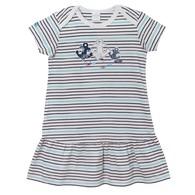 海洋風短袖洋裝(深藍)