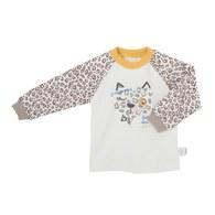 俏皮豹印花圓領衫