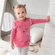 粉紅豹繡花圓領衫
